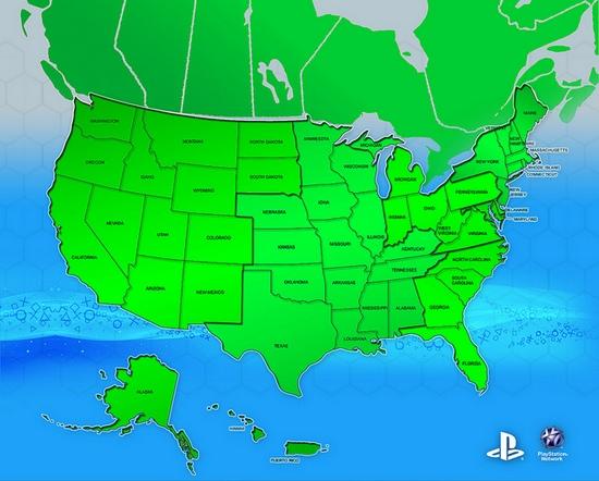 все USA штаты поключили к PSN