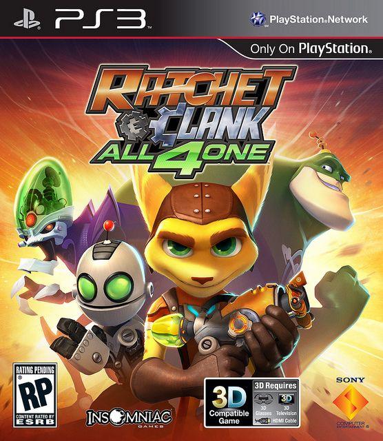 бокс-арт Ratchet & Clank: All 4 One