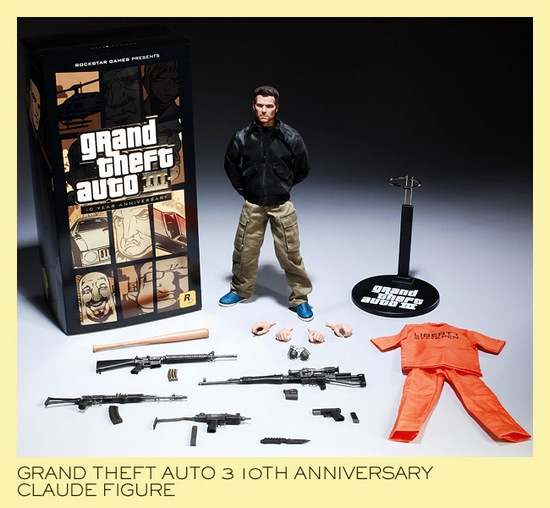 Grand Theft Auto III 10 Year Anniversary Limited Edition Claude Action Figure