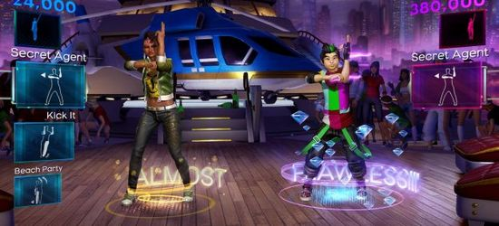 Dance Central 2 screens